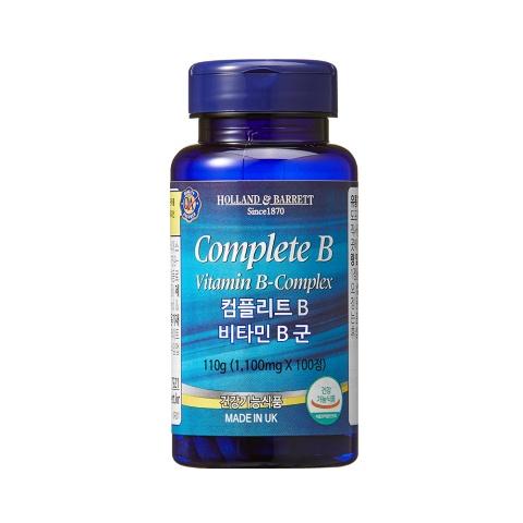 [공식 홀랜드앤바렛] 컴플리트 B 비타민 B 콤플렉스 (100정/100일분)