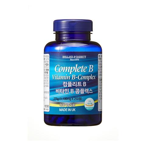 [공식 홀랜드앤바렛] 컴플리트 B 비타민 B 콤플렉스 1,100mg (250정/8개월분)