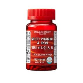 [공식 홀랜드앤바렛] 멀티 비타민 & 철 (60정/2개월분)