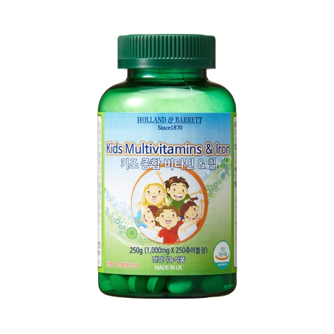 [공식 홀랜드앤바렛] 키즈 종합 비타민 & 철 (250정/8개월분)