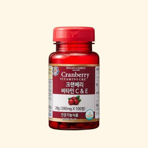 [공식 홀랜드앤바렛] 크랜베리 비타민 C&E (100정/1개월분)