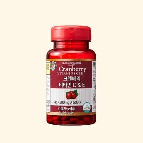 [공식 홀랜드앤바렛] 크랜베리 비타민 C&E (50정/15일분)