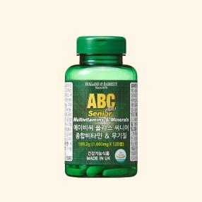 [공식 홀랜드앤바렛] 에이비씨 플러스 씨니어 종합비타민 & 무기질 (120정/4개월분)