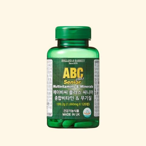 [공식 홀랜드앤바렛] 에이비씨 플러스 씨니어 종합비타민&무기질 (120정/4개월분)