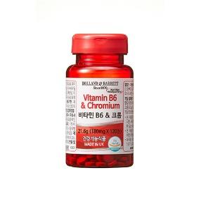[공식 홀랜드앤바렛] (유통기한 2021.5.27) 비타민 B6 & 크롬 (120정/4개월분)