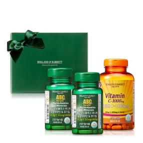 [공식 홀랜드앤바렛] 오래오래건강해요세트(비타민 C-1000mg 250정+ 에이비씨 플러스 씨니어 종합비타민 60정 x 2)
