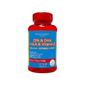 [공식 홀랜드앤바렛] EPA & DHA + 감마리놀렌산 & 비타민 E (60정/20일분)