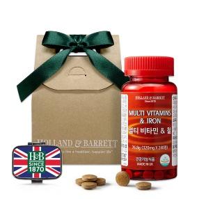 [여성건강] 멀티비타민&철 선물세트 (240정/8개월분)