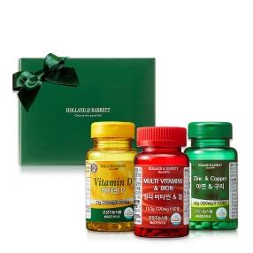 면역투게더 세트(멀티비타민&철60/비타민D100/아연&구리120)